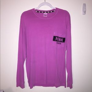 PINK Long Sleeved Campus T-shirt